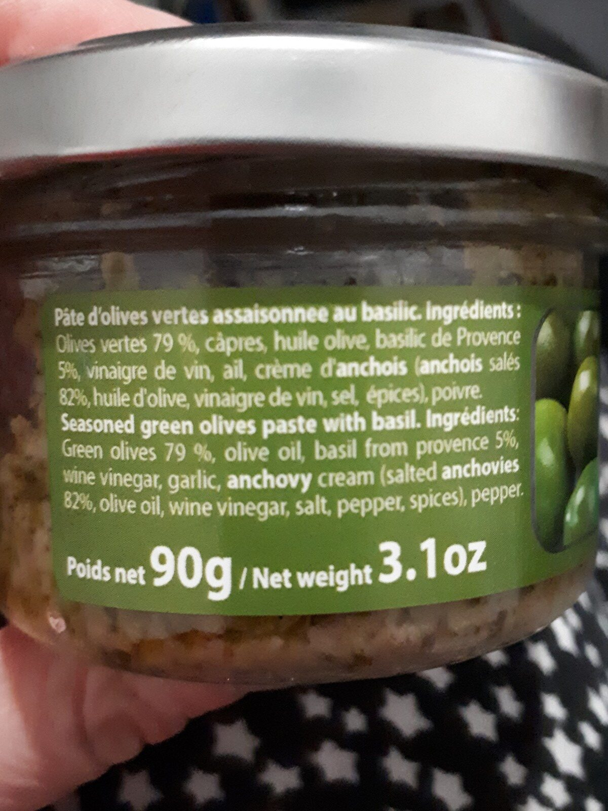 Tapenade verte au basilic - Ingrediënten
