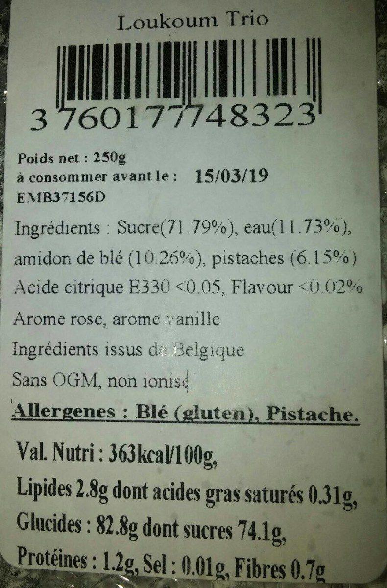 Loukoum trois saveurs - Product - fr