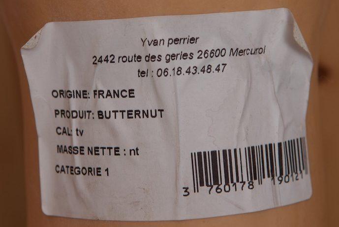 Butternut - Ingrédients