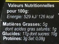 Riz au lait vanille - Nutrition facts - fr