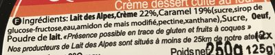 La crème caramel sur son lit de caramel - Ingredients - fr