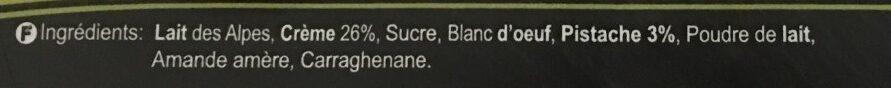 Crème à la Pistache - Ingredients - fr