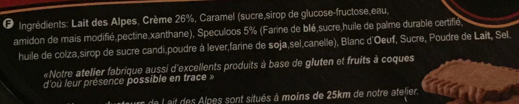 Crème Speculoos - Ingredients - fr