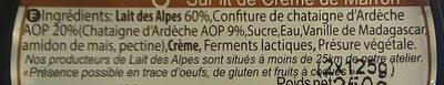 Blanc Battu Crème de Marron - Ingredients - fr
