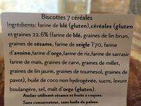 Biscottes - Ingredients