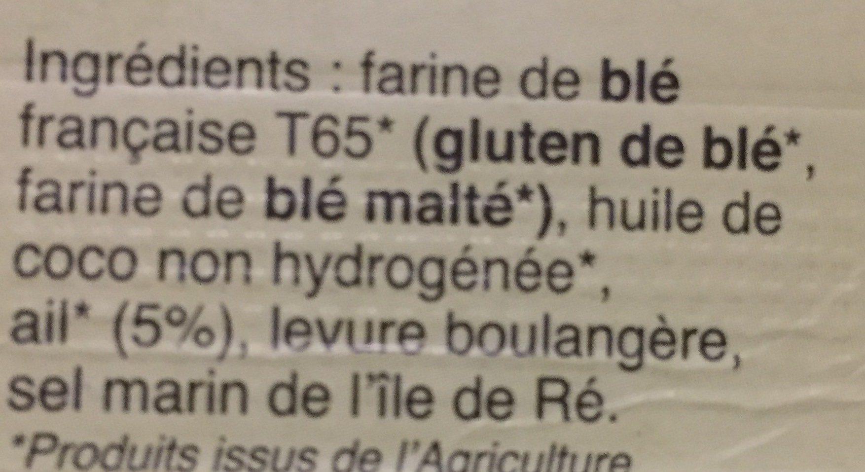 Croutons Blé Ail - Ingrédients - fr