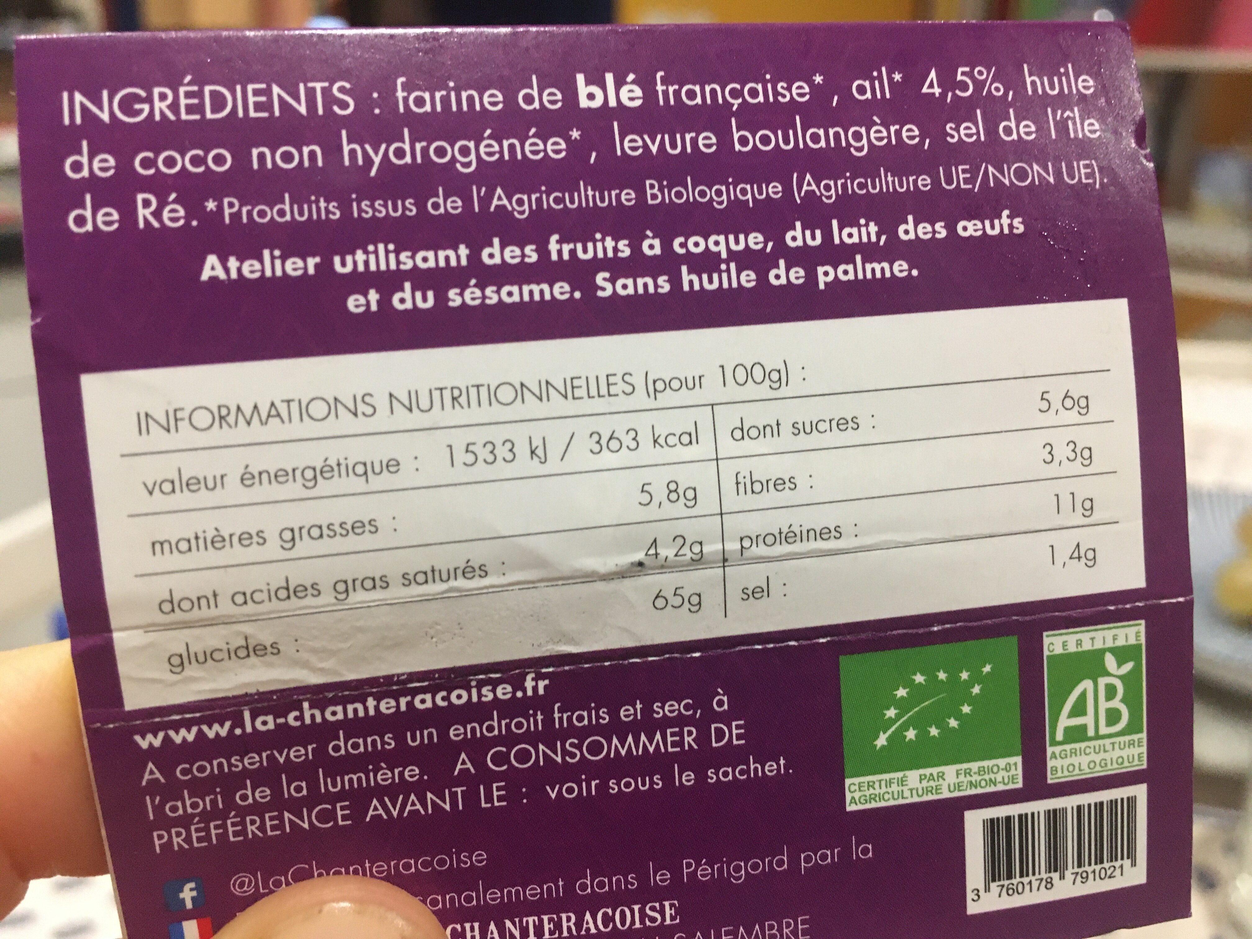 Croutons Blé Ail - Informations nutritionnelles - fr