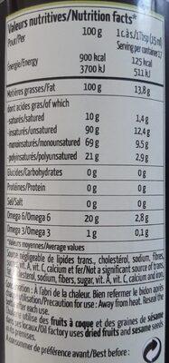 Huile d'amande - Nutrition facts
