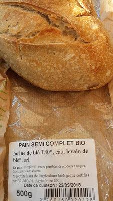 pain semi complet bio - Produit