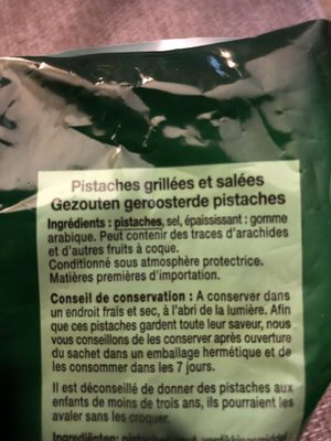 Pistaches grillées et salées - Ingrediënten - fr