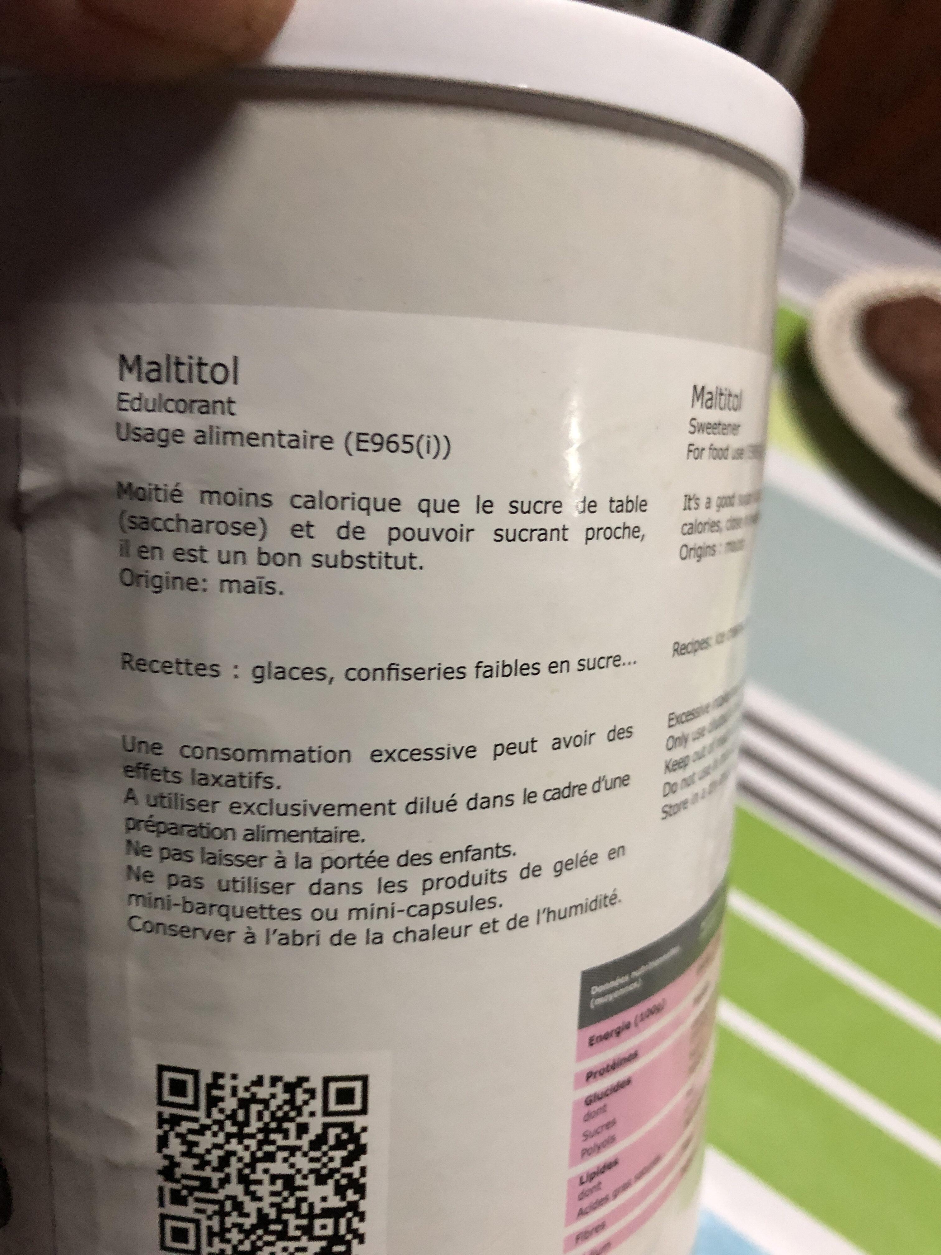 Maltitol - Informations nutritionnelles