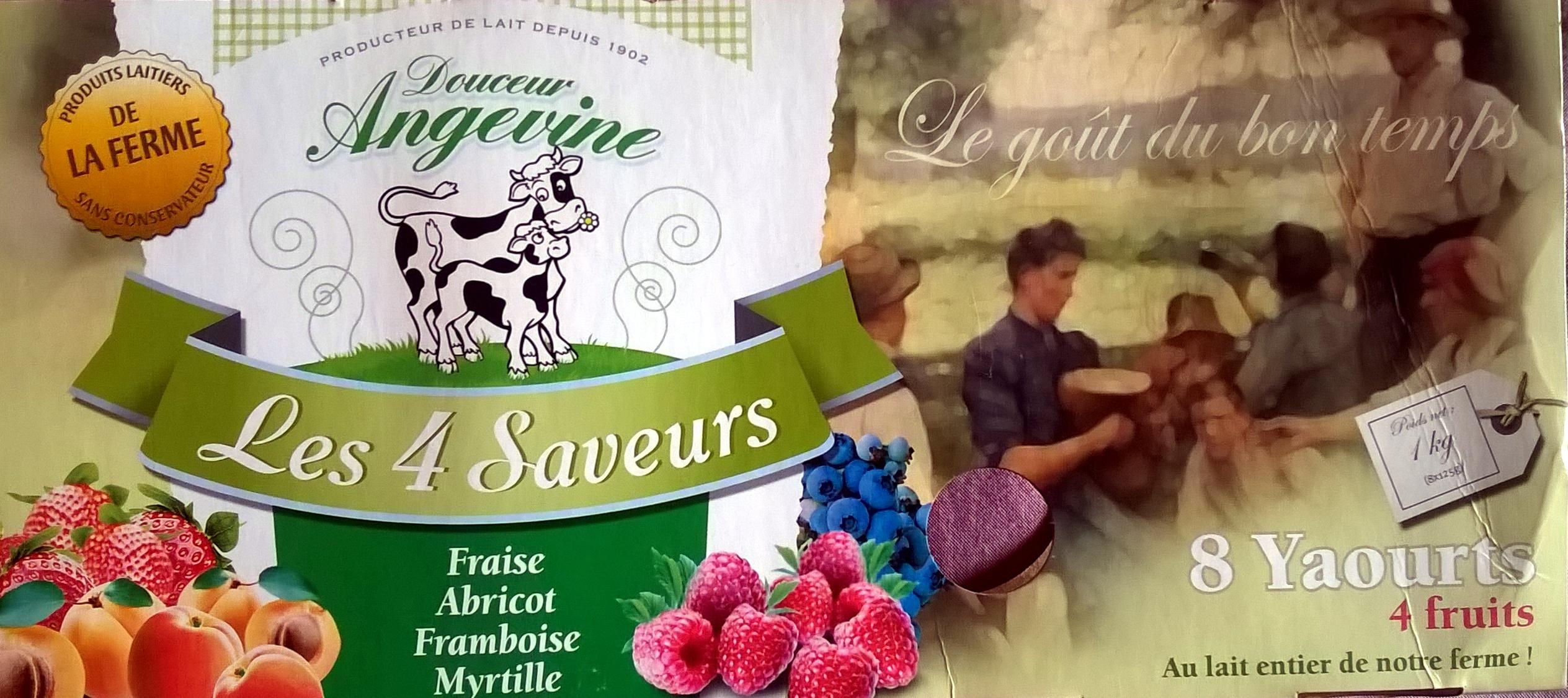 8 yaourts 4 fruits - Produit - fr