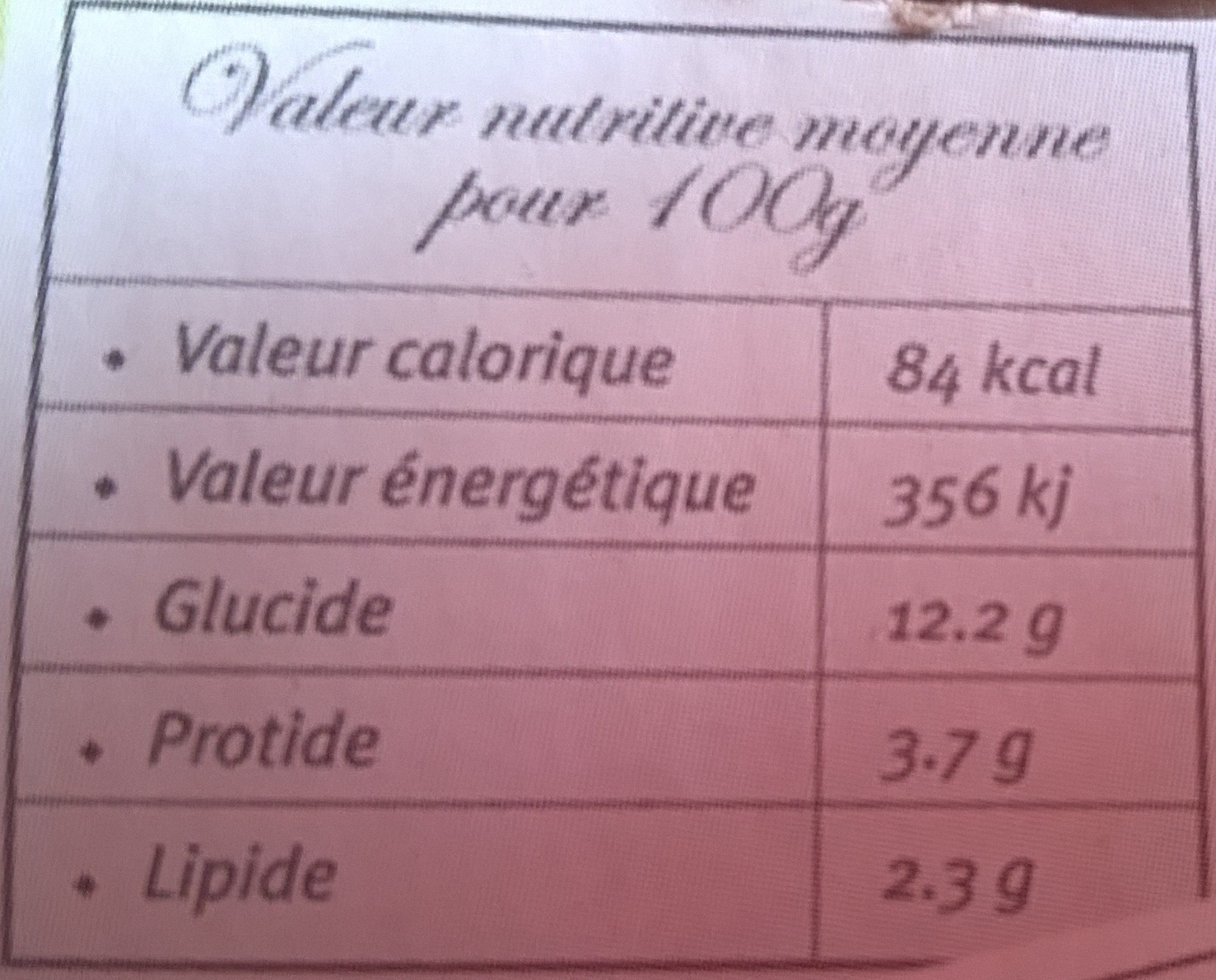 8 yaourts 4 fruits - Informations nutritionnelles - fr