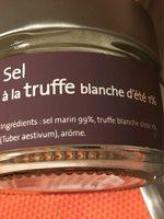 Sel a la truffe blanche - Ingredients - fr