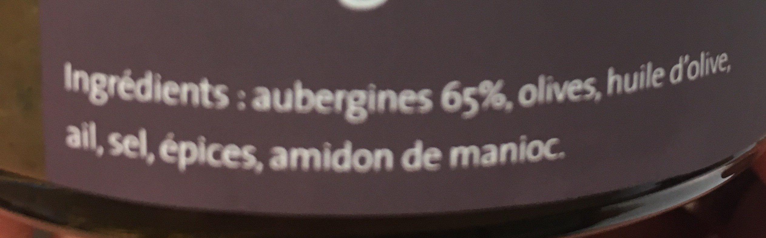 Caviar d'aubergine - Ingredients - fr