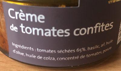 Crème de tomates confites - Ingredients - fr
