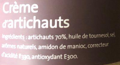 Creme d'artichaud - Ingredients - fr