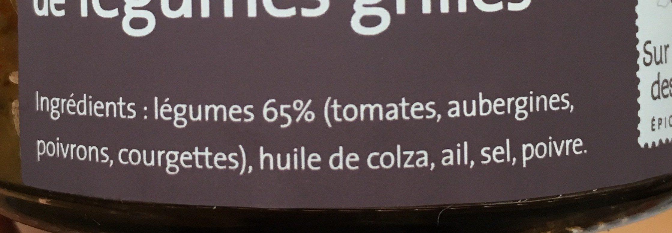 Compote de légumes grillés - Ingredients - fr
