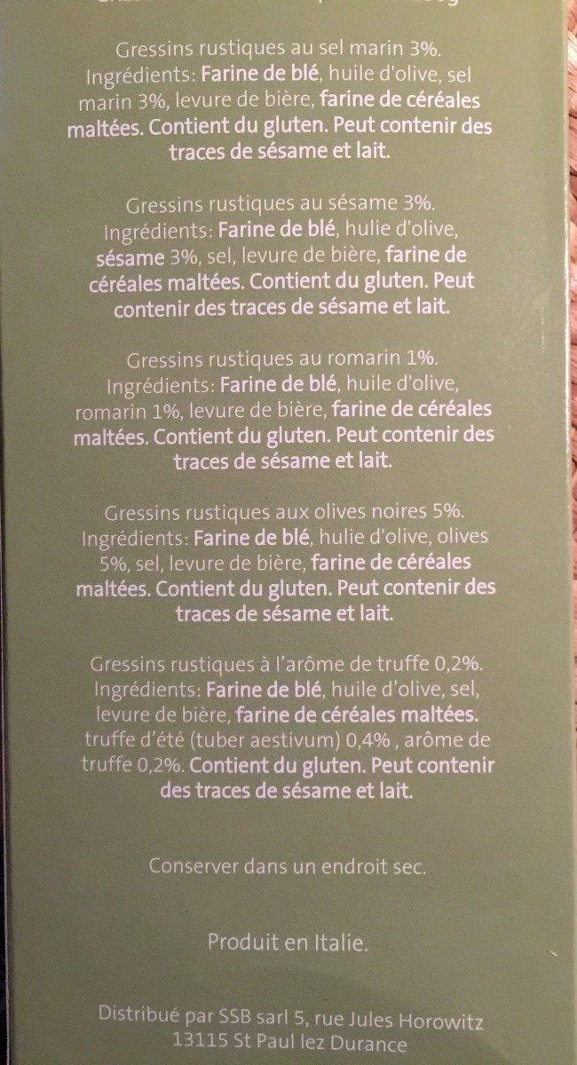 Gressins Rustiques au sel marin - Ingredients - fr