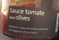 Sauce tomate aux olives - Ingredients - fr