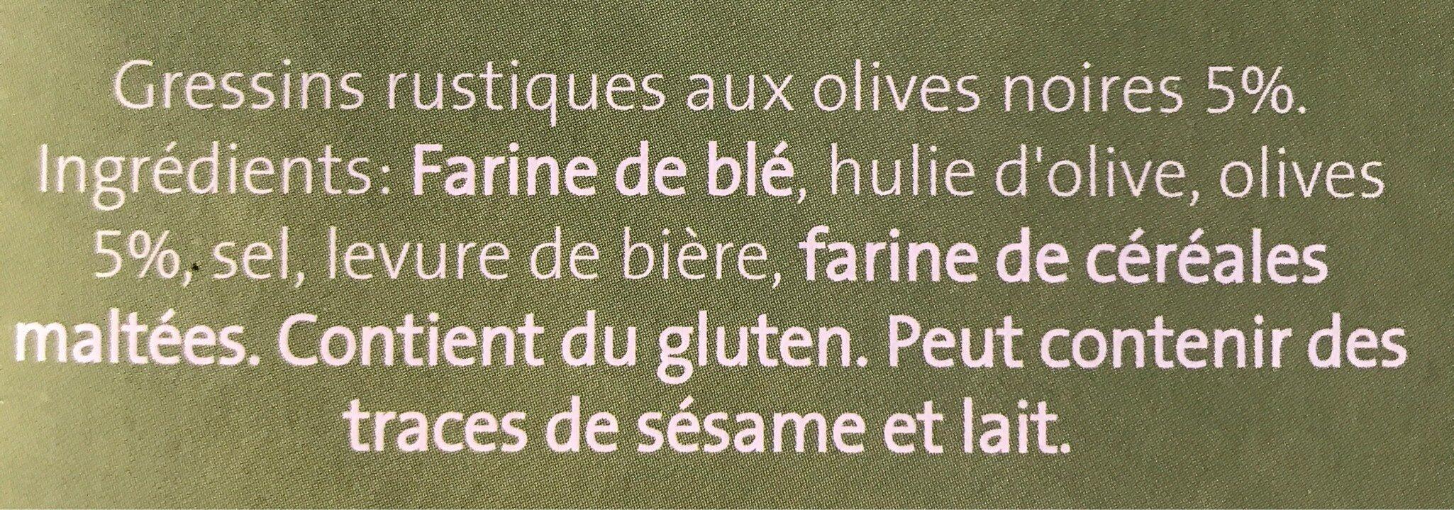 Gressins rustiques - Ingredients - fr