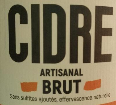 Cidre brut artisanal - Ingrédients - fr