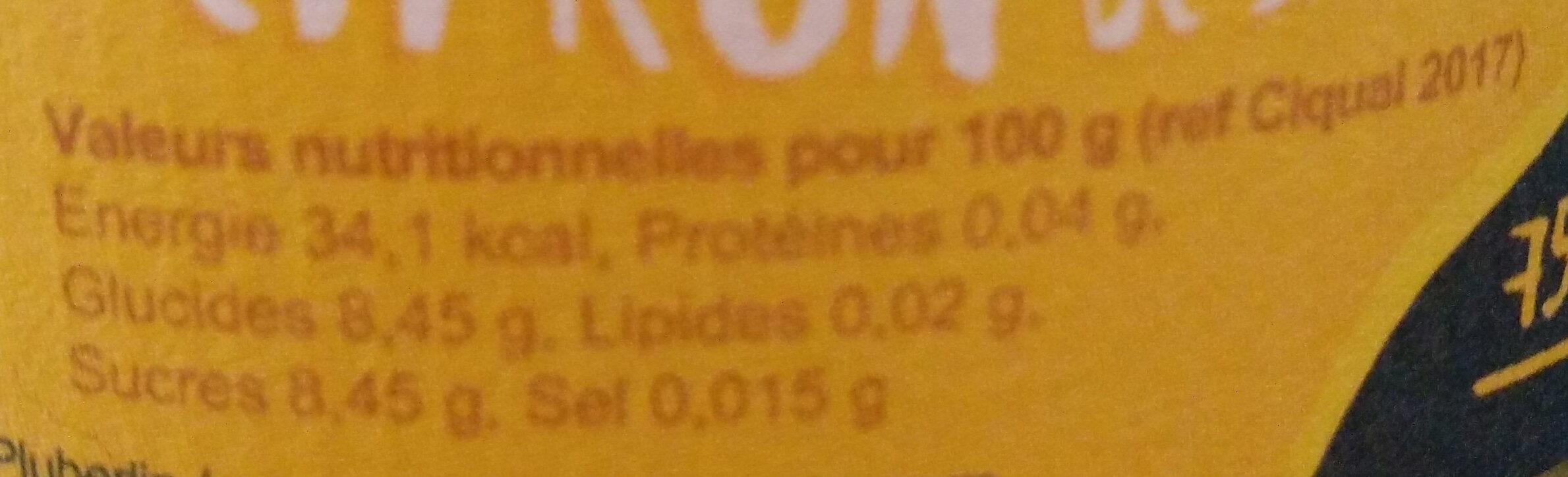 Limo La Lutine - Limonade - Voedingswaarden - fr