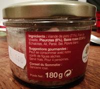 Terrine berrichonne aux pleurotes - Ingredients