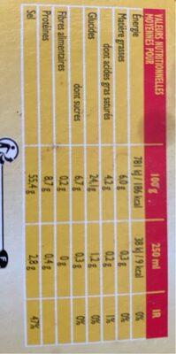 Bouillons gout boeuf - Informations nutritionnelles - fr