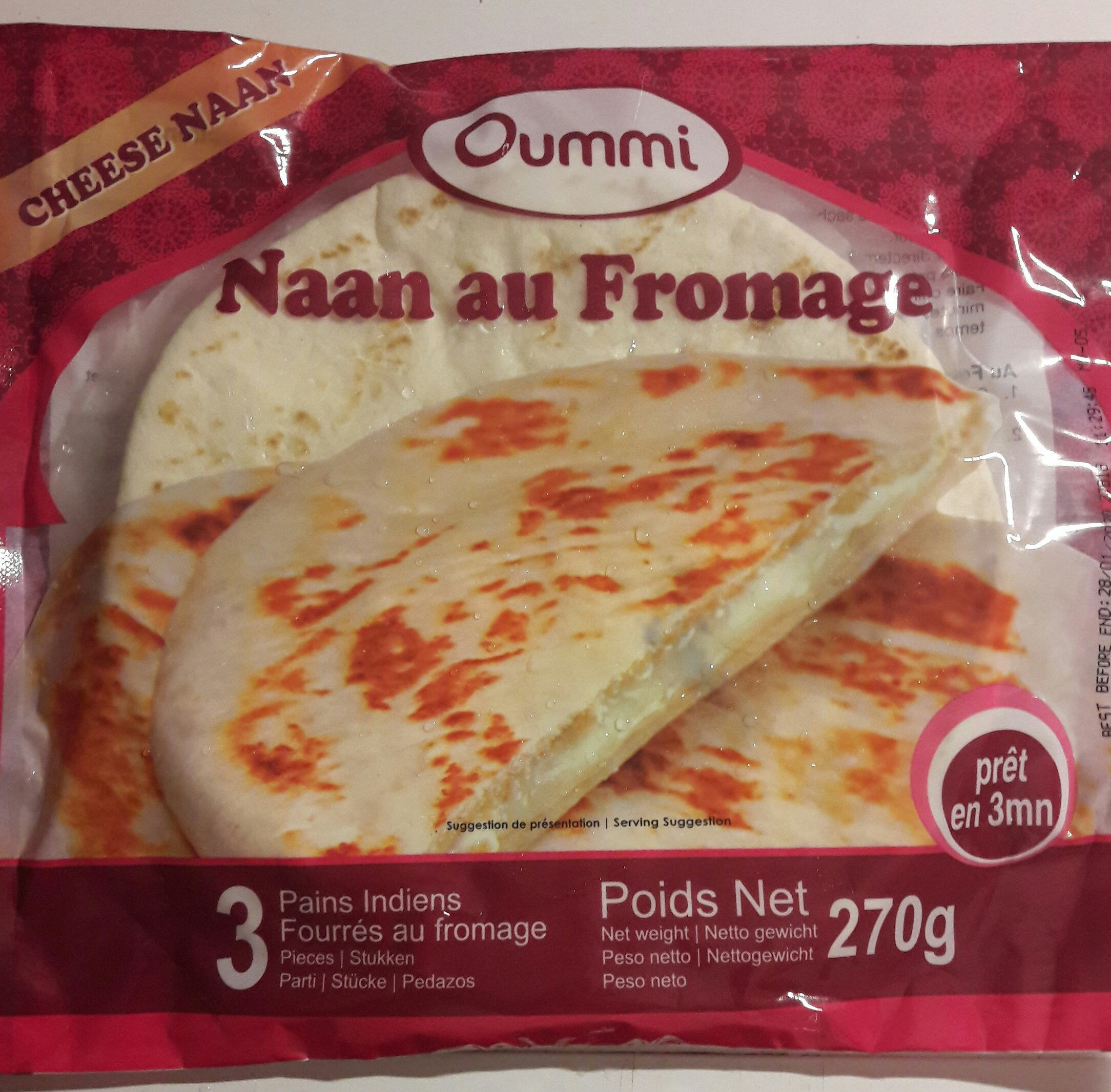 Naan au fromage - Prodotto - fr