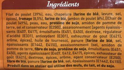 Cordons bleus - Ingredients - fr