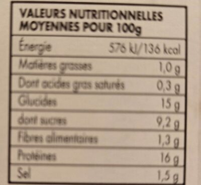 Brochettes poulet yakitori - Nutrition facts - fr
