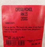 Croquygnole anis - Ingrediënten