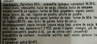 Gyoza de crevette - Ingredients