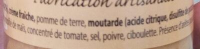 Mousse de Truite - Ingredients
