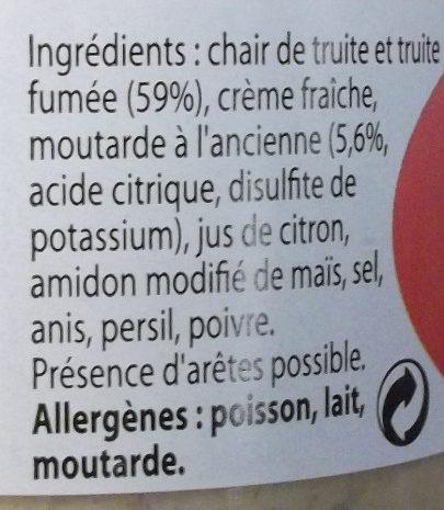Rillettes de truite à la moutarde à l'ancienne - Ingrédients - fr