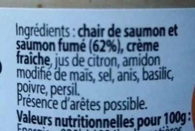 Rillettes de saumon - Ingredients - fr