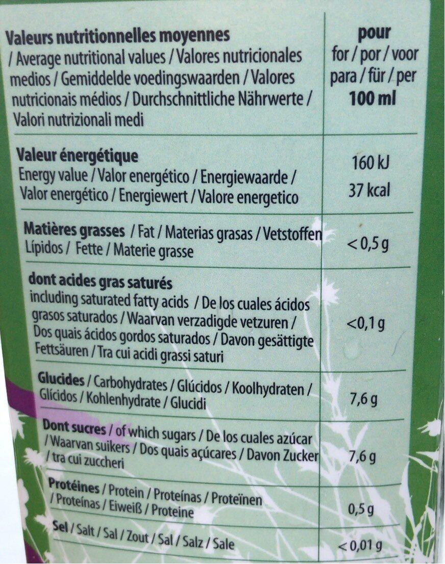 Pamplemousse Rose 100% Pur Jus - Informations nutritionnelles - fr