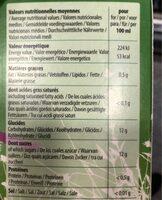 Jus de grenade - Informations nutritionnelles - fr