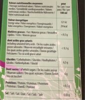 Carotte 100% jus - Nutrition facts - fr