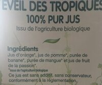 éveil des tropiques - Ingrediënten - fr
