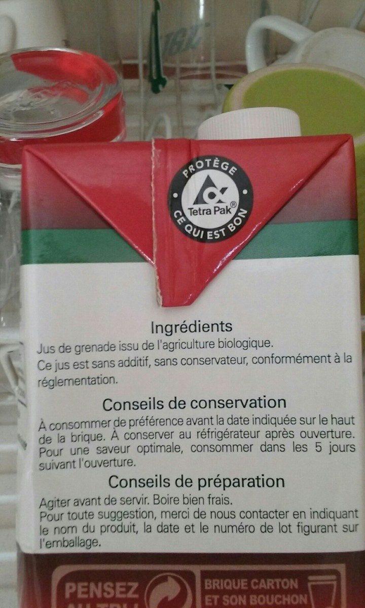 Grenade 100% Pur Jus - Ingrédients - fr