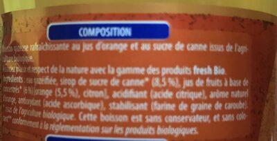 Blle 1L Soda Orange Bio Fresh - Ingrediënten