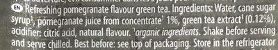 Thé vert saveur grenade - Ingredients - en
