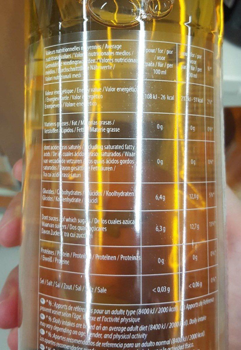 Thé vert saveur grenade - Nutrition facts - fr