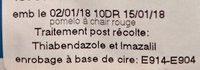 Pomelos à Jus - Ingrédients - fr