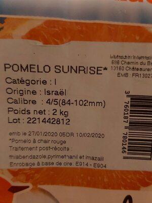 Pomelos à Jus - Informations nutritionnelles - fr