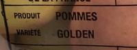 Pommes Golden - Ingrédients - fr