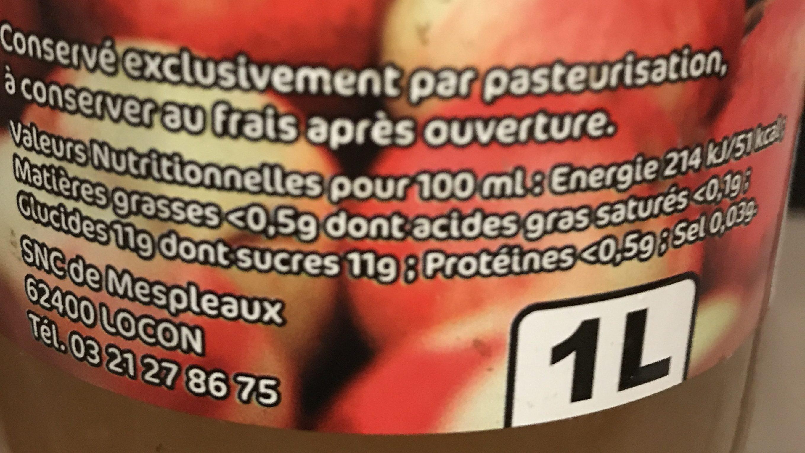 Jus de pommes des vergers de Mespleaux - Ingredienti - fr