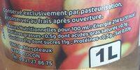 Jus de pommes des vergers de Mespleaux - Valori nutrizionali - fr